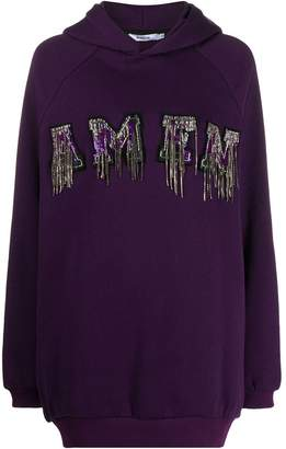 Amen sequin embroidered hoodie