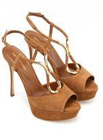 Sergio Rossi Twist Royal Platform Sandals