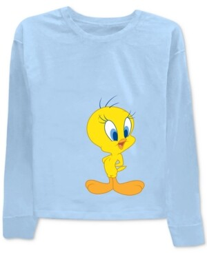 Warner Brothers Tweety & Sylvester Front & Back Graphic-Print T-Shirt