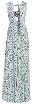 Proenza Schouler Cutout Printed Maxi Dress