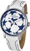 Jacques Lemans UEFA Champions League Unisex White Leather Strap Watch U-38B