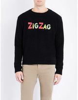 The Elder Statesman Zig Zag Knitted Cashmere Jumper