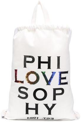 Philosophy di Lorenzo Serafini Love drawstring backpack