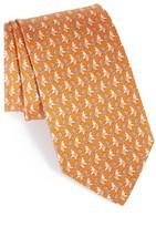 Salvatore Ferragamo Men's Elephant Print Silk Tie