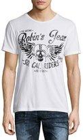 Robin's Jeans Logo & Skull Short-Sleeve Graphic Tee, White