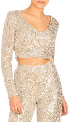 GUESS Riza Sequin Cropped Top