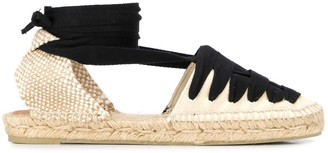 Castaner lace-up flat espadrilles