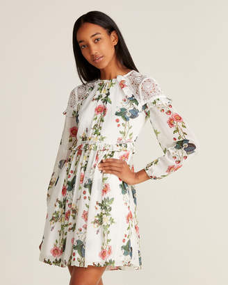 Ted Baker Oracle Floral Print Fit & Flare Dress