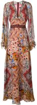 Etro arabesque print maxi dress