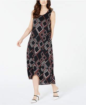 Alfani Geo-Print Tulip-Hem Dress