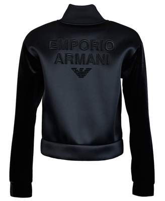 Emporio Armani Logo Back Jacket Colour: BLACK, Size: 8