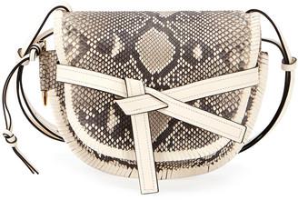 Loewe Gate Small Python Shoulder Bag