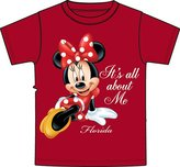 Disney Fl It's All About Me Minnie Mouse Girls T Shirt - Red (X-small)
