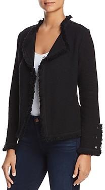 Nic+Zoe Petites Fringed Mixed-Texture Jacket