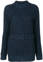 See by Chloe ribbed belted sweater - women - Cotton/Mohair/Wool - XS