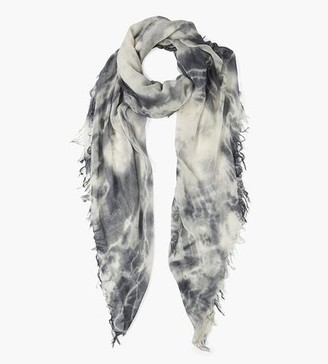Chan Luu Brushed Nickel Tie Dye Cashmere Silk Scarf
