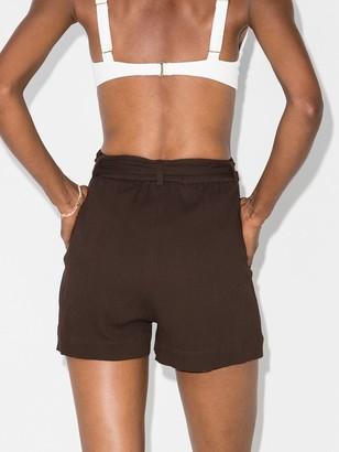 Peony Swimwear Belted Organic Cotton Shorts