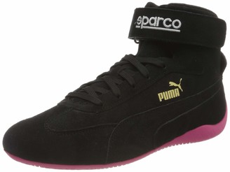 Puma Unisex Adults' SPEEDCAT MID SPARCO Sneaker Black-Glowing Pink Team Gold 10.5 UK