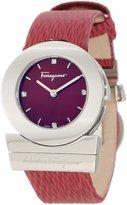 Salvatore Ferragamo Women's F56SBQ9926 S006 Gancino Stainless-Steel Red Leather Watch