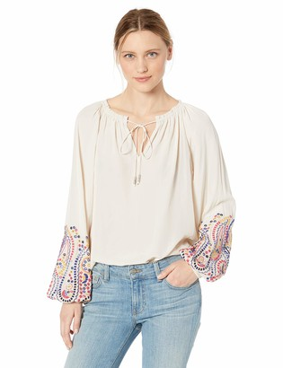 Ramy Brook Women's Shanese Embroidered Blouse