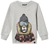 Animal Grey Lion Crew Neck Sweater