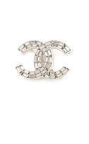 What Goes Around Comes Around Chanel Crystal CC Brooch (Previously Owned)