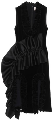 Christopher Kane Ruffle-trimmed velvet dress