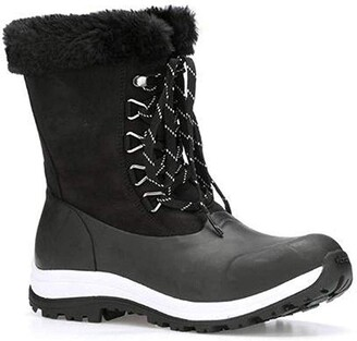 Muck Boot Muck Women's Apres Lace Arctic Grip- Black (Walv-000)