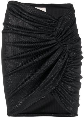 Alexandre Vauthier Glittered Gathered Skirt