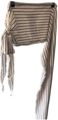 Maison Margiela Beige Polyester Scarves