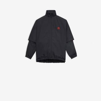 Balenciaga BB Double Sleeve Zip-up Jacket