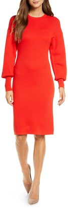 Vince Camuto Balloon Sleeve Sheath Knit Dress