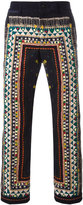 Sacai tribal lace print corduroy trousers - men - Cotton - 2