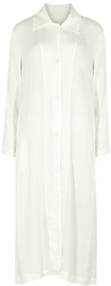 Raquel Allegra White shirt dress