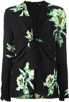 Proenza Schouler tie-front floral blouse - women - Silk - 6
