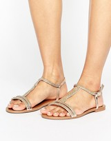 Head Over Heels By Dune Lana Embellished Flat Sandal