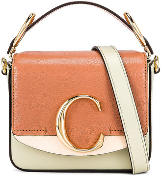 Chloé Mini C Tri Color Box Bag in Light Eucalyptus | FWRD