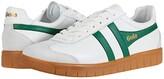 Gola Hurricane Leather (Off-White/Green/Gum) Men's Shoes