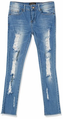 Cover Girl Women's Skinny Jeans Distressed Cropped