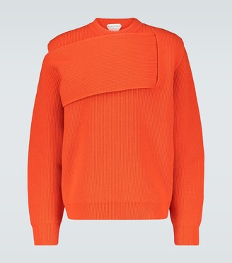 Bottega Veneta Deconstructed knit cashmere sweater