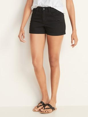 Old Navy Mid-Rise Distressed Boyfriend Jean Shorts for Women - 3-inch inseam