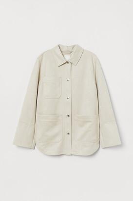 H&M Faux Suede Shirt Jacket