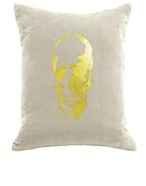 DaVinci Skull Velvet Pillow