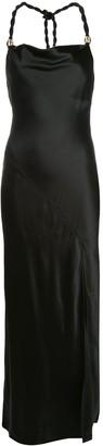 Nicholas Side-Slit Halterneck Dress