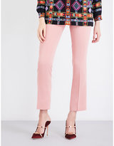 Etro Straight cropped mid-rise crepe trousers