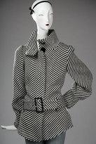 MADISON MARCUS Black and White Belted Coat