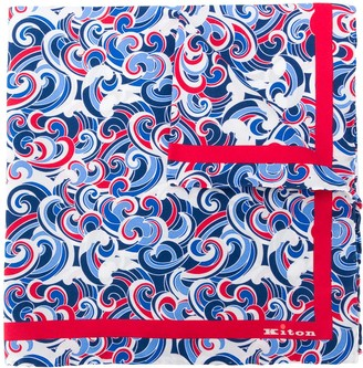 Kiton All-Over Print Handkerchief