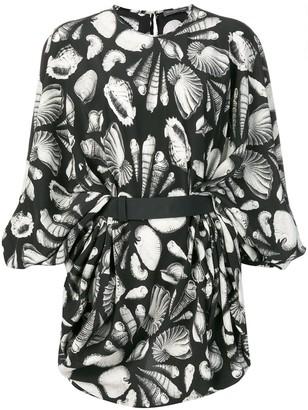 Alexander McQueen seashell printed dress