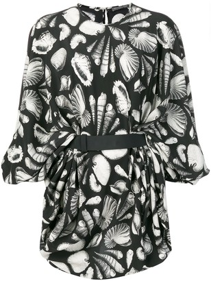 Alexander McQueen Seashell Printed Dress