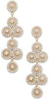 Sole Society Crystal Fan Drop Earrings
